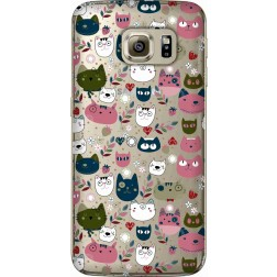 Cute Lil Cats Clear Case for Samsung Galaxy S6 Edges