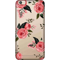 Pink Florals Clear Case for Vivo V5