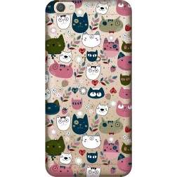 Cute Lil Cats Clear Case for Vivo V5