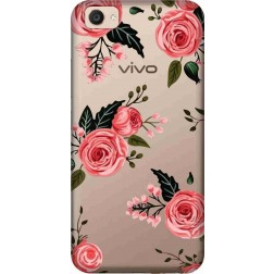 Pink Floral Clear Case for Vivo V5 Plus