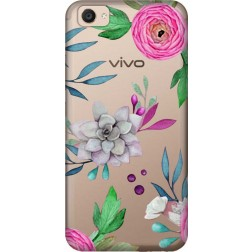 Mixed Florals Clear Case for Vivo V5 Plus