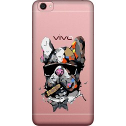 Artistic Painted Bulldog Clear Case for  Vivo Y55L