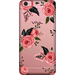 Pink Floral Clear Case for Vivo Y55L