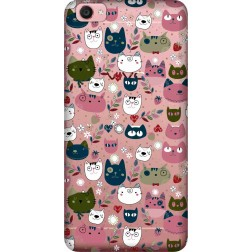 Cute Lil Cats Clear Case for  Vivo Y55L