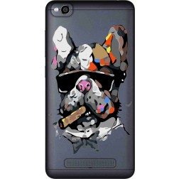 Artistic Painted Bulldog Clear Case for Xiaomi Redmi 4A