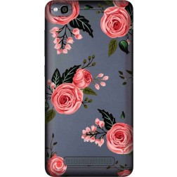 Pink Florals Clear Case for Xiaomi Redmi 4A