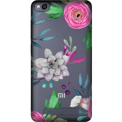 Mixed Florals Clear Case for Xiaomi Redmi 4A
