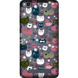 Cute Lil Cats Clear Case for Xiaomi Redmi 4A
