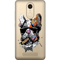 Artistic Painted Bulldog Clear Case for Xiaomi Redmi Note 3