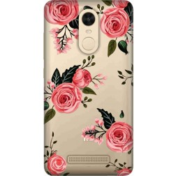 Pink Florals Clear Case for Xiaomi Redmi Note 3