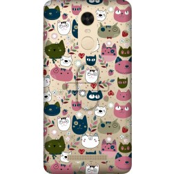 Cute Lil Cats Clear Case for Xiaomi Redmi Note 3