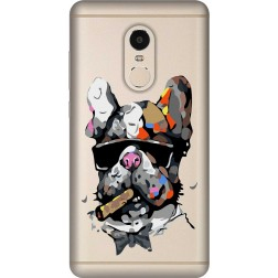 Artistic Painted Bulldog Clear Case for Xiaomi Redmi Note 4