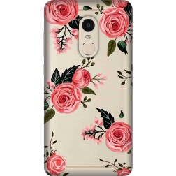 Pink Floral Clear Case for Xiaomi Redmi Note 4