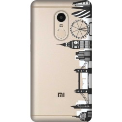 London City clear case for Xiaomi Redmi 4(4x)