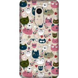 Cute Lil Cats Clear Case for  Xiaomi Redmi 4(4x)